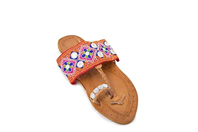 3e9c637e73d Badhuche Traditional Rajasthan Designer Kolhapuri Ethnic Foot Wear for  Women Girls  Buy Online at Low Prices in India - Amazon.in
