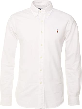 Polo Ralph Lauren Camisa Button Down Tejido oxfod Classic Fit ...