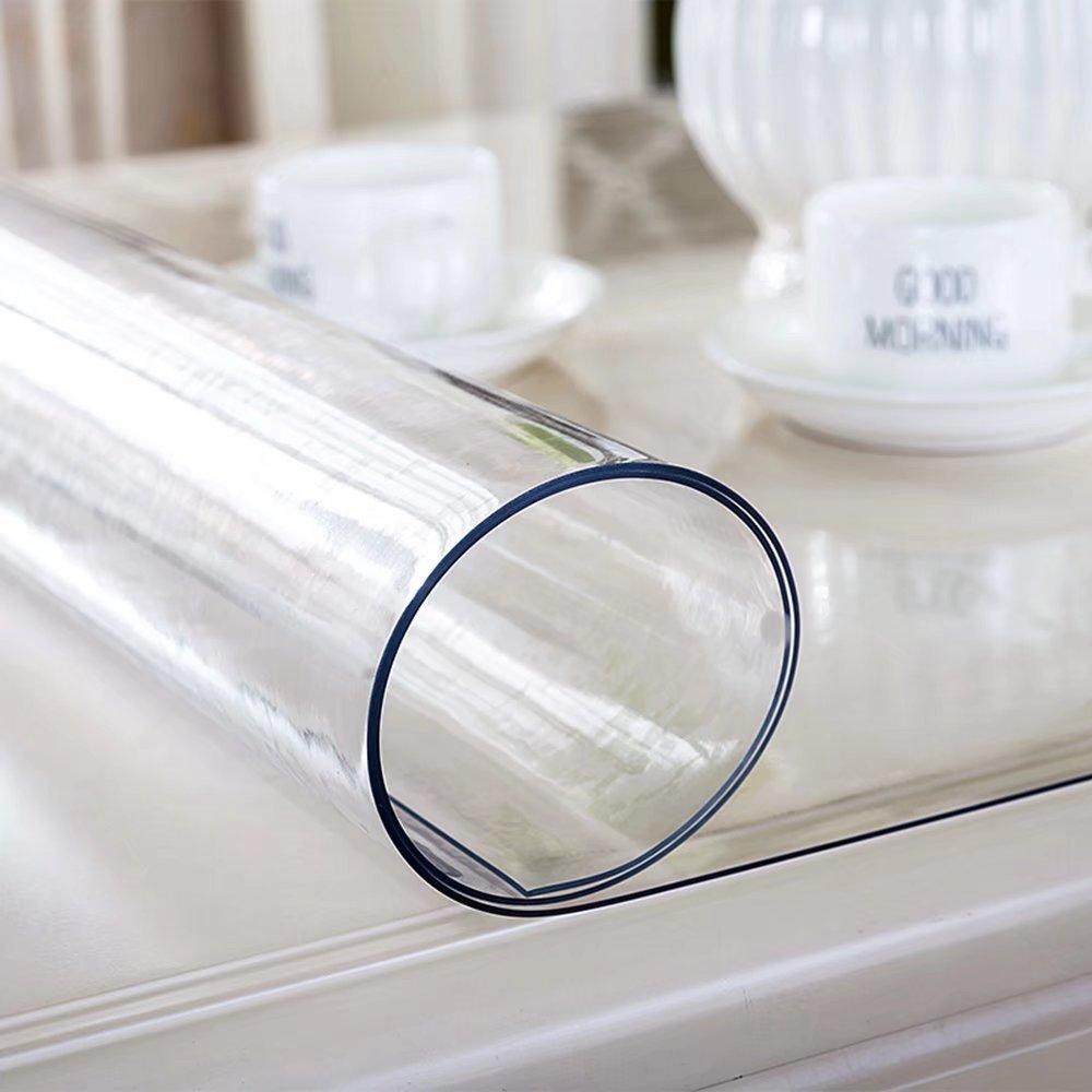 Soft Glass Clear Table Cover Table Protector Rectangular Square PVC Tablecloth Desk Mats Pads Transparent ZANSHI