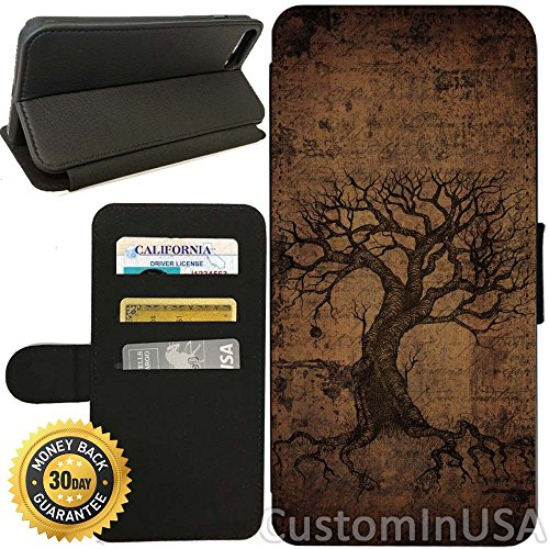 - Flip Wallet Case for iPhone 7 Plus (Vintage Ancient Tree of Life) with Adjustable Stand and 3 Card Holders | Shock Protection | Lightweight | by Innosub