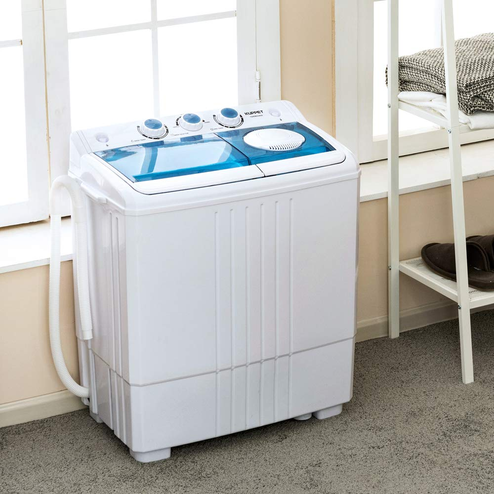6.6lbs /&Spiner 14.4lbs KUPPET Compact Twin Tub Portable Mini Washing Machine 21lbs Capacity //Built-in Drain Pump//Semi-Automatic/ Washer