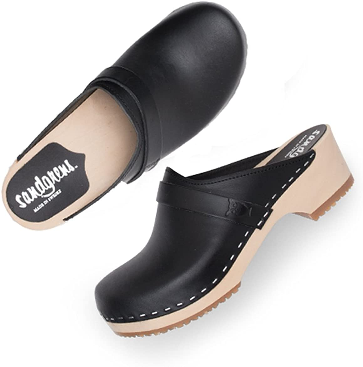 Buts Wood Soles Swedish Clogs Heels Gray Clogs Stylish Women Clogs High Heel Clogs Wooden Clogs Leather Clogs