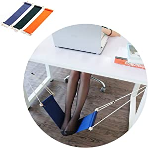 HaloVa Foot Hammock Portable Adjustable Office Foot Rest, Mini Under Desk Foot Rest Hammock for Home, Office Study and Relaxing, Black