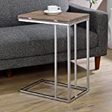 Denson Side Table, Gray/Weathered Oak and Chrome + Expert Guide