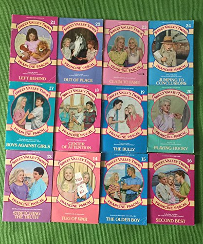 Set #2 of Sweet Valley Twins book collection (13-24), by Francine Pascal, 12 books total