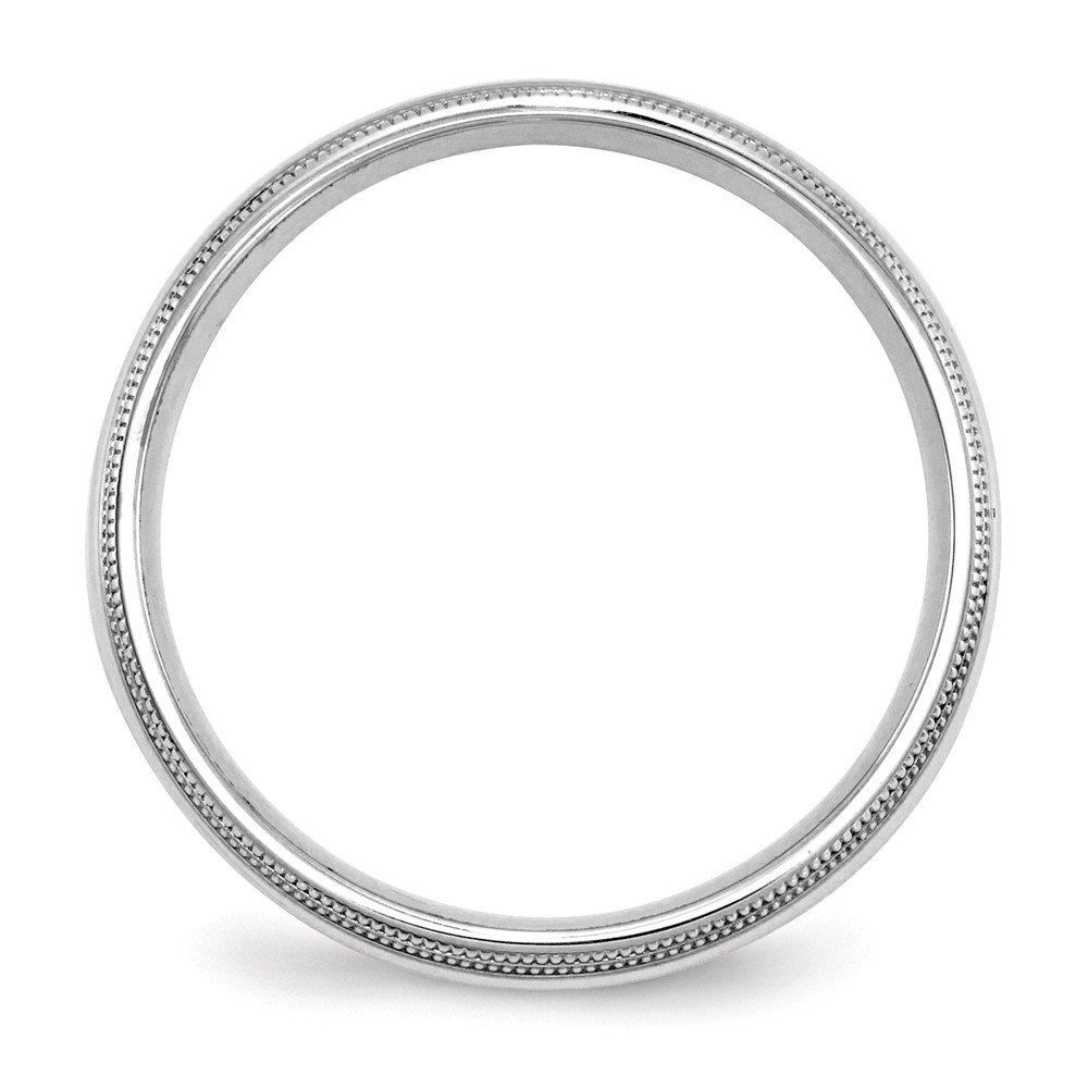 10k White Gold 5mm Double Milgrain Comfort Fit Band Ring Size 9.5 Ideal Gifts For Women