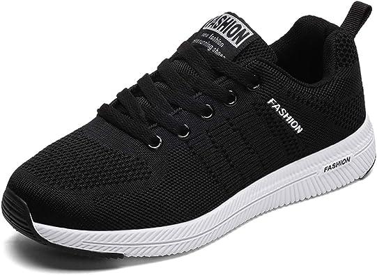 JIANKE Zapatillas de Running de Deportivos para Mujer Hombre ...