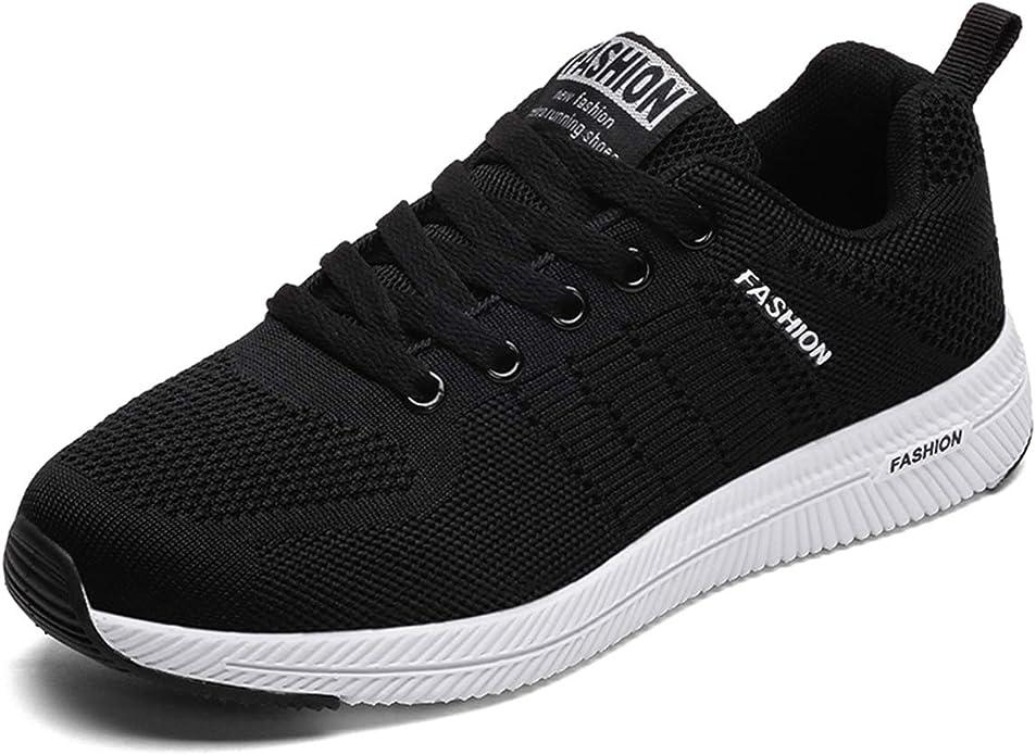 JIANKE Zapatillas de Running de Deportivos para Mujer Hombre Zapatillas para Caminar Ligero Sneakers Ligero Sneakers: Amazon.es: Zapatos y complementos