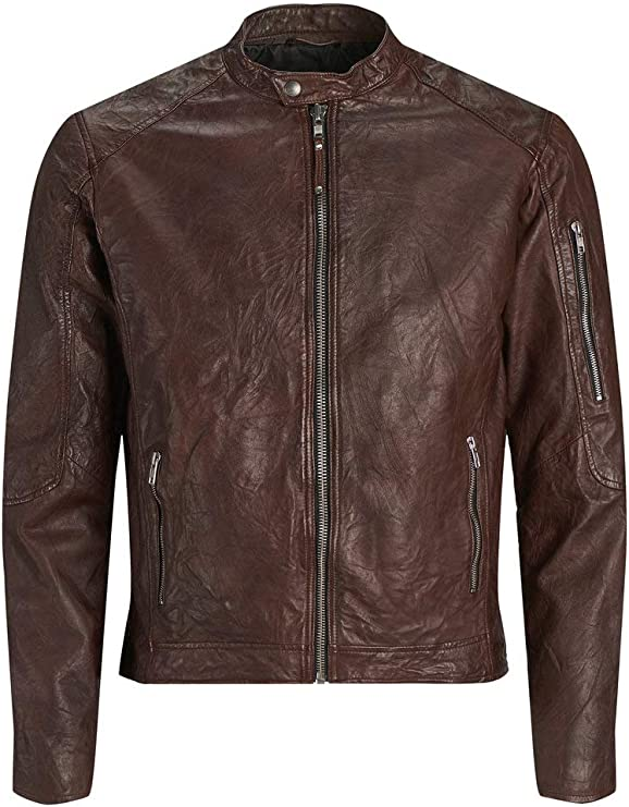 TALLA L. Jack & Jones Jprrichard Clean Leather Jacket STS Chaqueta para Hombre