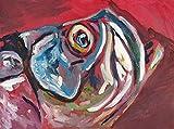 Tarpon Fishing Art, Colorful Abstract Tarpon Fish Wall Art Print Hand Signed By Jack Tarpon, Saltwater Fisherman Gift, Tarpon Fish Artwork