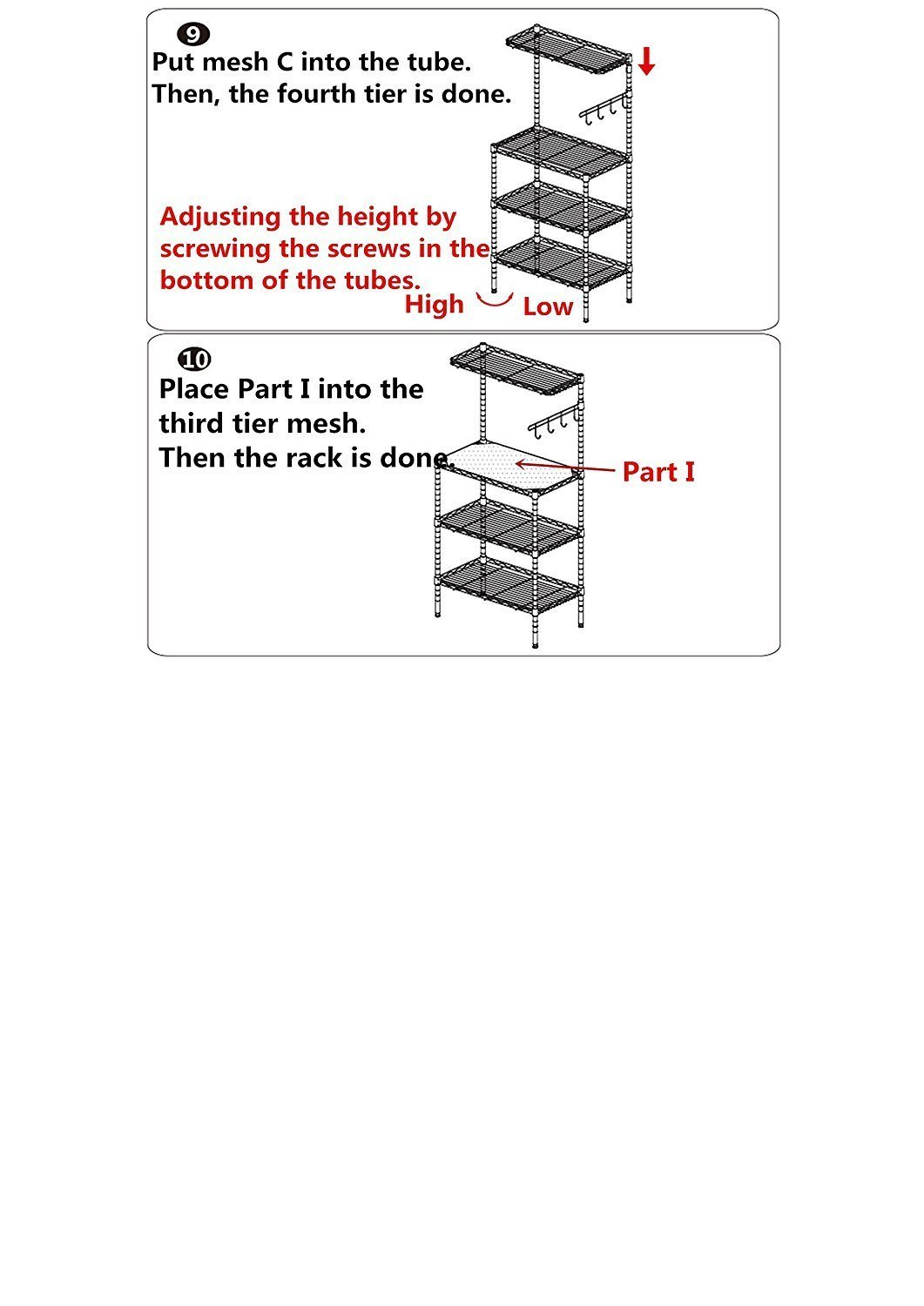 Amazon.com - Aries 3-Tier Bakers Rack Utility Microwave Stand Kitchen  Storage Cart Workstation, US STOCK - Standing Baker's Racks