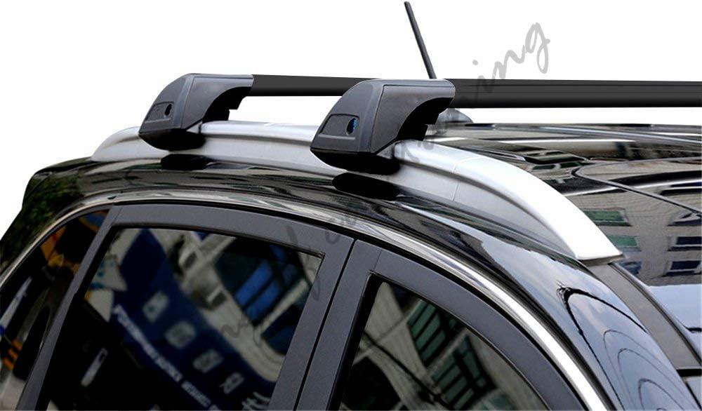 king of car tuning Ultra Quiet Black Lockable Crossbar Cross Bar Roof Rail Luggage Rack Fits for BMW X1 E84 2010-2015