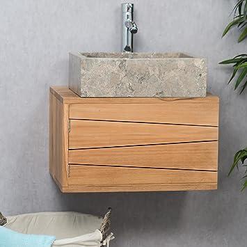 wanda collection Mueble para Cuarto de baño suspendido de Teca Cosy 50 cm