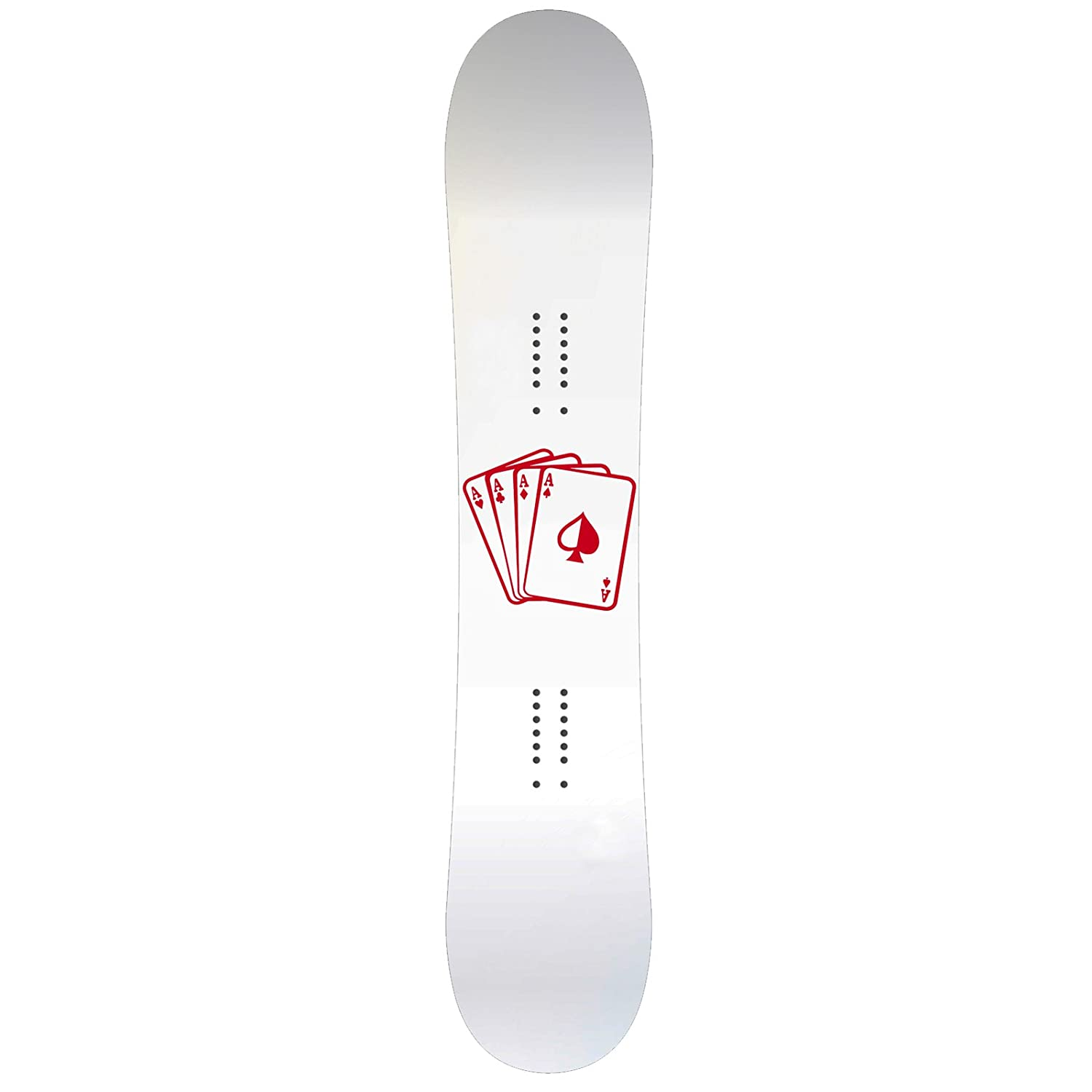 Playing Cards Aces Snowboard Sticker All Weather 6 Vinyl Decal