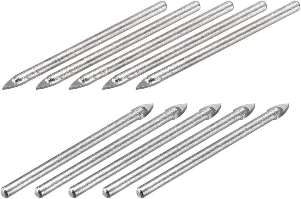brick tiles and wood masonry 5mm drill bit for ceramic black tone glass pack of 10