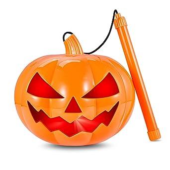 Amazon De Halloween Kurbis Windlicht Laterne14cm Batteriebetrieben