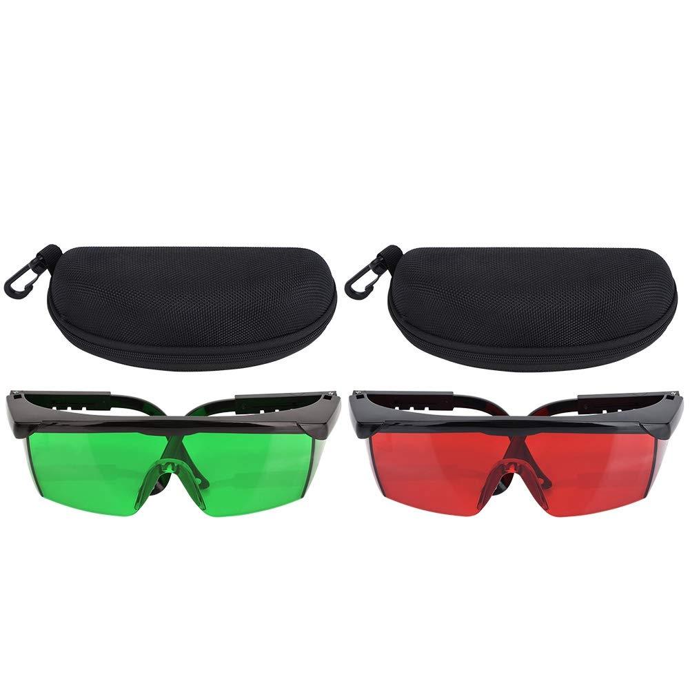 rojo Gafas de mejora de l/áser gafas de haz de luz Mejora de visibilidad de gafas Gafas para nivel de l/áser