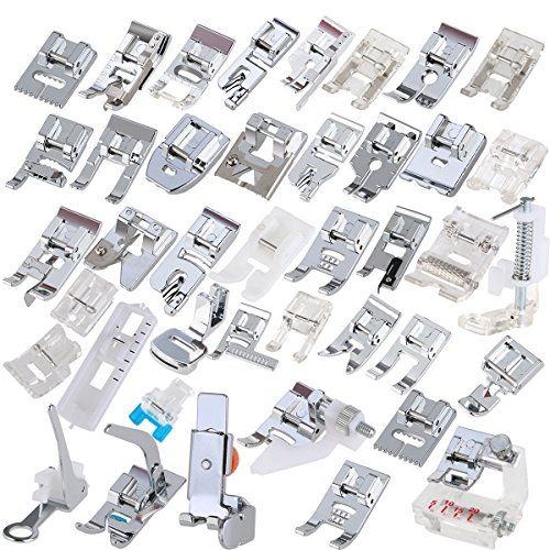ueetek 42pcs máquina de coser domésticas pie pies Presser Set para ...
