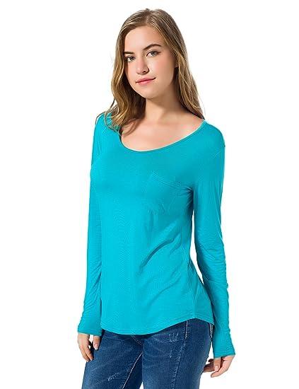 d197011045a Women s Soft Cotton Plain Wide V Neck T Shirt Short Sleeve Loose  Comfortable Tops Small Green