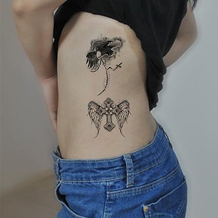 TAFLY - Pegatinas de tatuaje temporales con diseño de alas ...