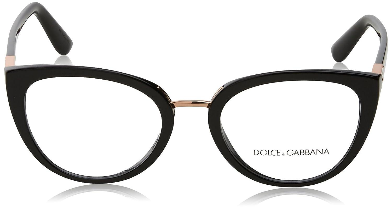 Amazon.com: Dolce & Gabbana Mujer dg3262 anteojos, Negro ...