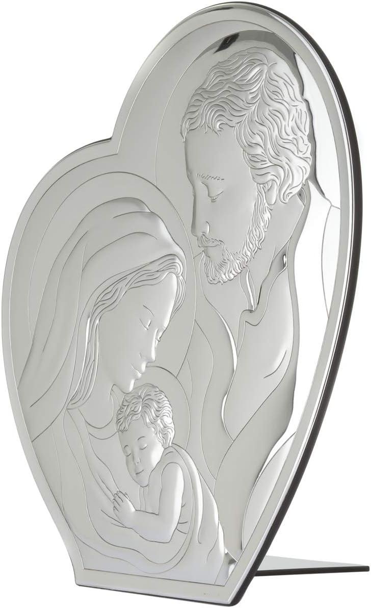 da 36x41 cm Icona Sacra Famiglia in argento
