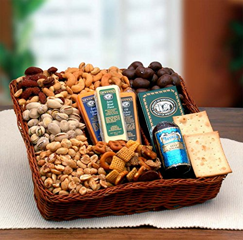 Snackers Delight Gourmet Nut & Snack Gift Tray by Gourmet Nut Snack Tray (Image #1)