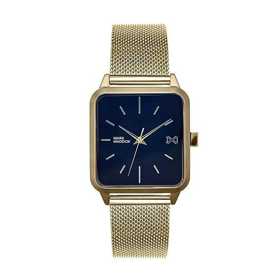 Mark Maddox Reloj Analogico para Hombre de Cuarzo con Correa en Acero Inoxidable HM7104-57: Amazon.es: Relojes