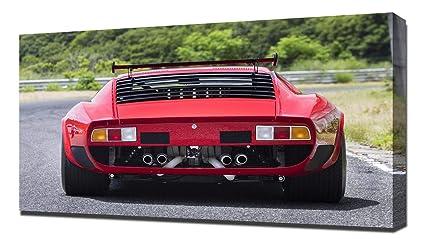 Amazon Com Lilarama Usa 1968 Lamborghini Miura Jota Svr V4 Canvas