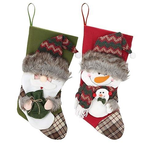 Decoraciones Navideñas,Calcetines para Regalos Infantiles,Calcetines Navideños