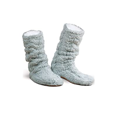 Addison Meadow Slipper Boots for Women - Muk LUKS Slippers, Blue, Size 8 to 9.5 | Slippers