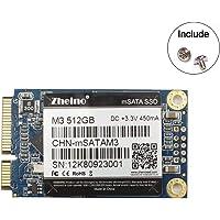 Zheino mSATA SSD 512GB M3 Internal mSATA Drive 3D Nand Flash Solid State Drive for Mini PC Notebooks Tablets PC