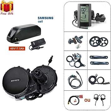 BAFANG BBS02 48V750W Kit de conversión media de motor eléctrico de ...