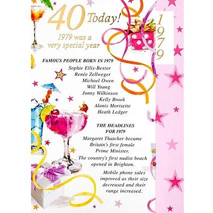 Tarjeta de cumpleaños para mujer de 40 años de edad con ...