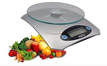 Básculas Cocina Digitales Bascula Balanza Digital Cristal Portátil Electrónico Balanzas Kitchen Scales LED: Amazon.es: Oficina y papelería