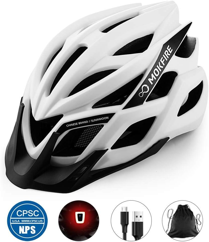 MOKFIRE Casco de Bicicleta para Adultos CPSC & CE.EN1078 ...