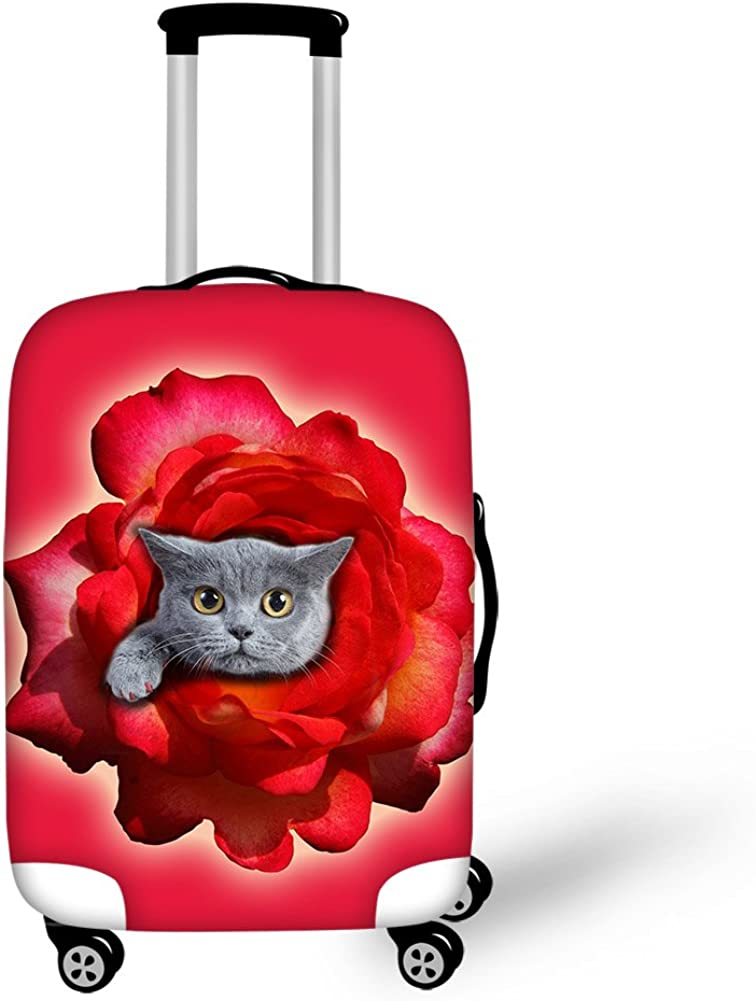 Dog Cat Print for 182228 Spandex Luggage Protector Suitcase Cover