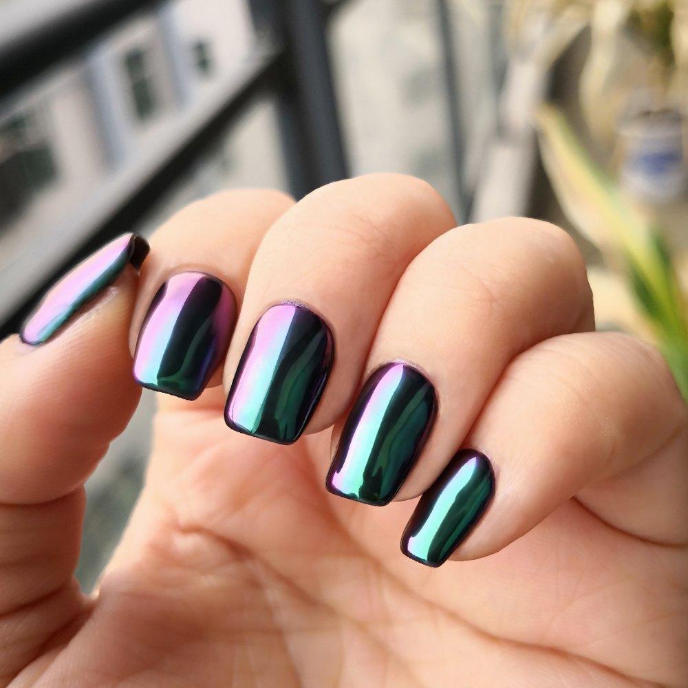 Amazon.com : PrettyDiva Opal Chrome Nail Powder Top Grade Mirror ...