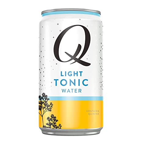 Q Mixers Light Tonic Water, Premium Cocktail Mixer Made with Real Ingredients, 7.5 Fl oz, 24 Cans (Only 20 Calories per Can)