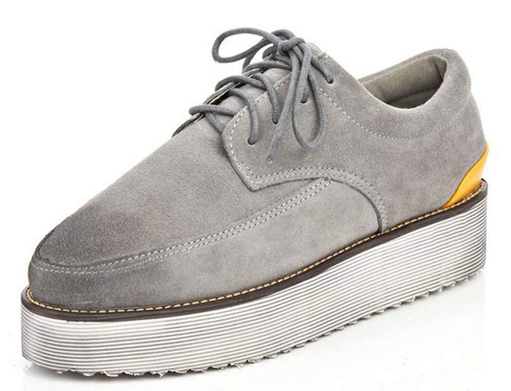 Fuxitoggo Schnürung für Schuhe Korrespondenz von Farbe Einzigartige (Farbe   Grau Größe   35)