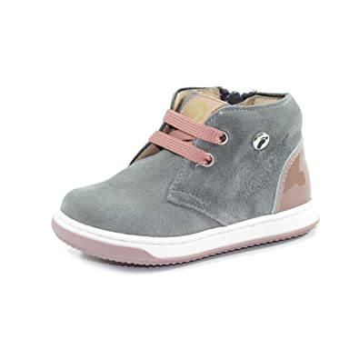 WALKEY - Chaussure bleue et blanche en cuir, avec double fermeture en velcro, garçon-20