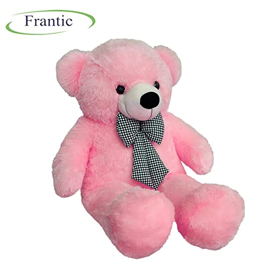 Frantic Premium Quality Huggable Teddy Bear, Plush Stuffed 90 cm (3 Feet) Baby Pink Color