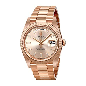 da1f34b8d Image Unavailable. Image not available for. Color: Rolex President Day Date  Rose Dial Mens Watch 228235SNDP