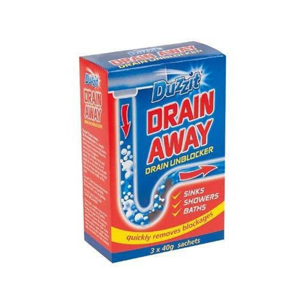 Dazzit Drain Away Unblocker Cleaner Cleaning Bathroom Shower Sink ...