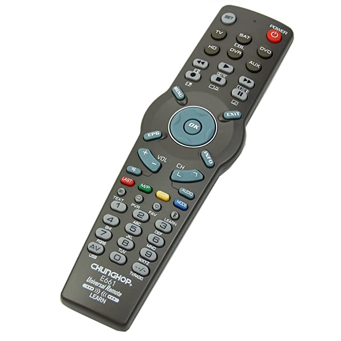 CHUNGHOP Black Learning Remote Control Controller For TV CBL DVD AUX SAT AUD