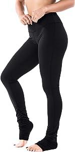 "Yogipace Petite/Tall Women's 31""/34"" High Waisted Mid Rise Goddess Extra Long Leggings Yoga Over The Heel Leggings"
