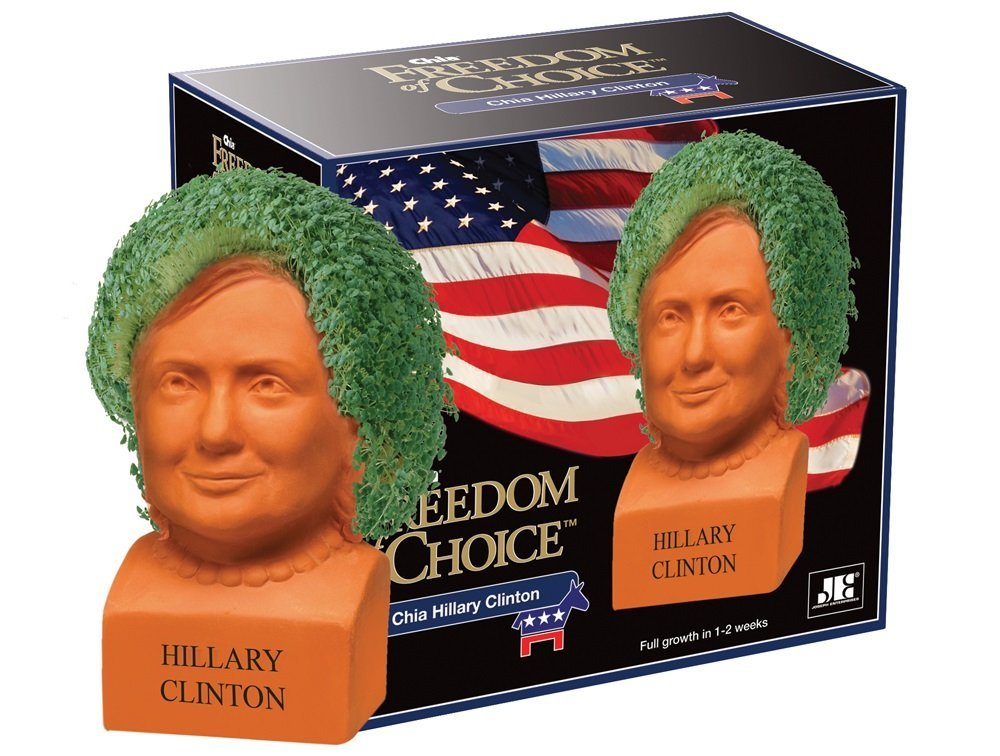 Chia Hillary Clinton Freedom of Choice Pottery Planter