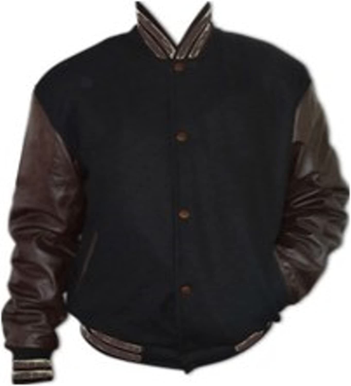 US Windhound College Jacke rot mit weißen Echtleder Ärmel XXL