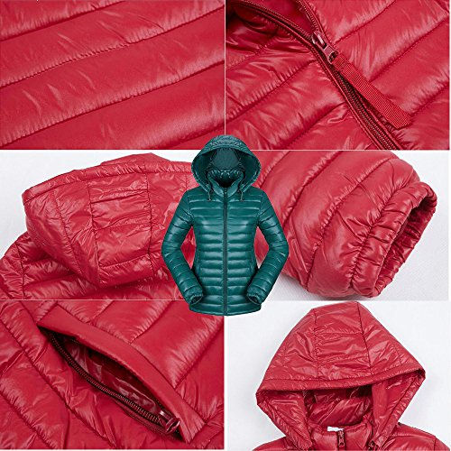 Jacket Light Women's Puffer Deep KINDOYO Winter Down Cotton green Ultra Coat qBwRfS0