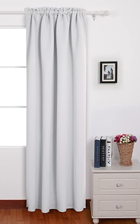 Deconovo Blackout Curtains Rod Pocket Thermal Insulated Curtain Panels For Bedroom 42 W X 95 L